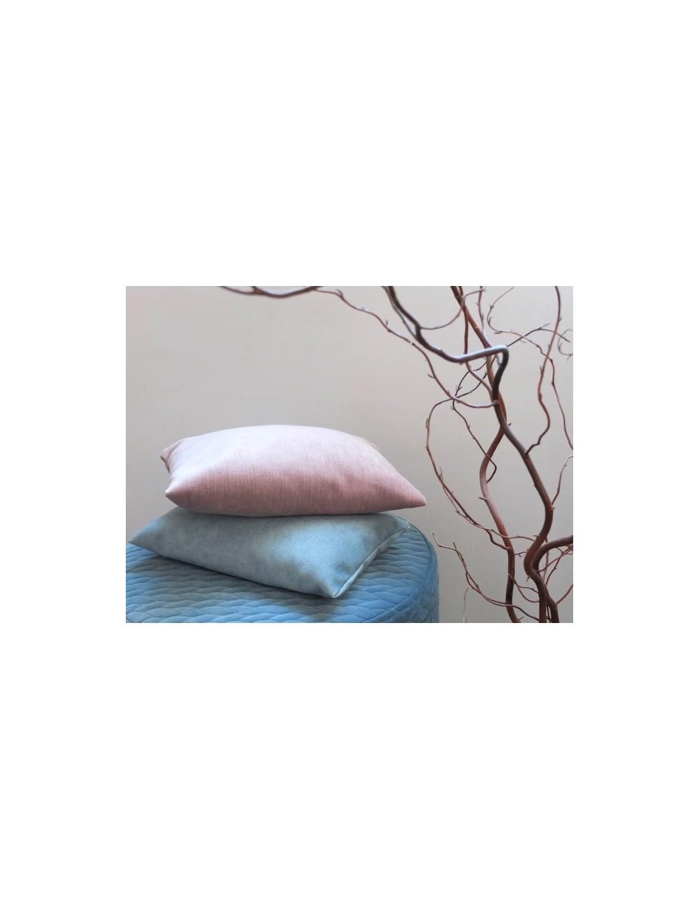 Cojín lavanda terciopelo-chenilla